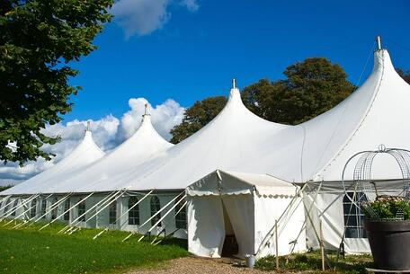 Commercial tents ready to be cleaned