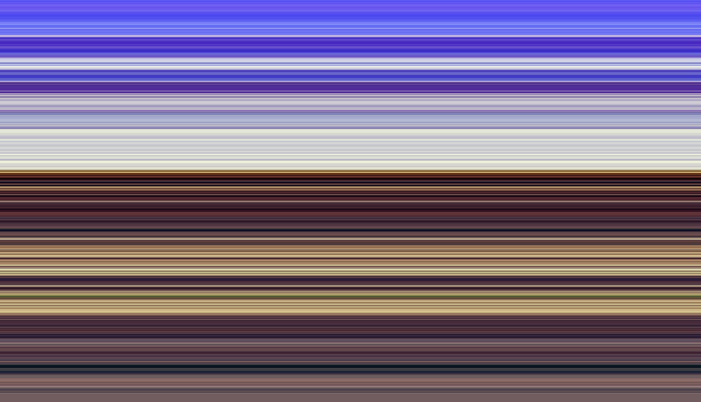Varicolored abstract of many thin horizontal stripes, like layers of sediment, for decoration and backgrounds with themes of parallelism or variation