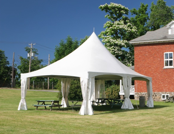 Tent using Herculite's high performance tent fabric