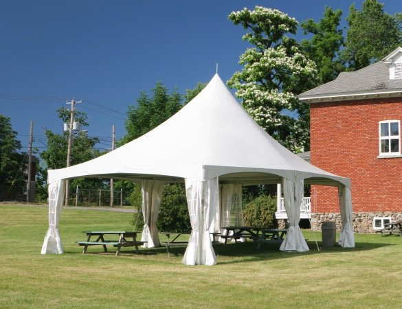 Tent using Herculite's high performance tent fabric