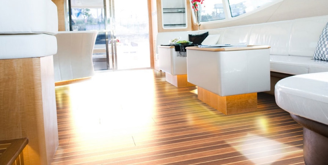 Flooring on the boat