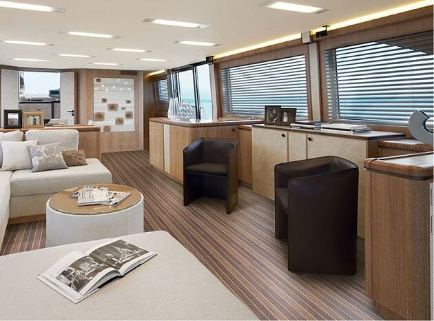 Salon of a boat
